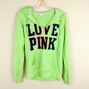 PINK Victoria's Secret | Green Rainbow Hoodie -W10